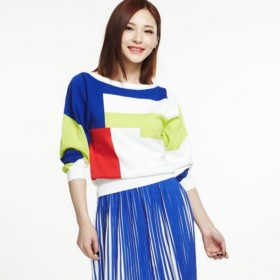 VANCL Anna Color Block Knitwear (Women) White SKU:476089