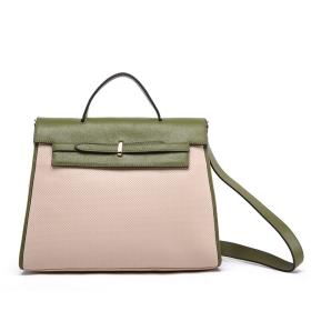 VANCL Sacha Minimalista bőr táska Olive / Bézs SKU: 168181