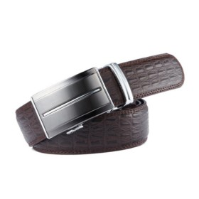 VANCL Matthew Elegant Business Plate Buckle Belt (Men) Brown SKU:853518