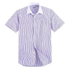 VANCL Drake Contrast Collar Short Shirt (Men) Stripe A SKU:199661