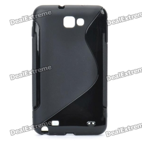 Protective PVC Back Case for GALAXY NOTE/I9220/GT-N7000 - Black SKU:116205