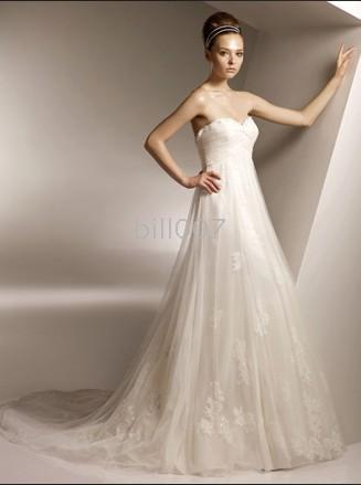 Whole Benjamin Roberts 2010 Mermaid Style Tulle Skirts Organza Sweethear Chapel Train Wedding Dresses 2101