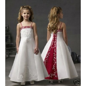 Beautiful Flower Girl Wedding Dress Prom Ball Wholesale Free Shipping Wholesale And Retail