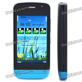"3.0""  Screen Dual SIM Dual Network Standby Quadband GSM Cell Phone w/ FM - Blue"
