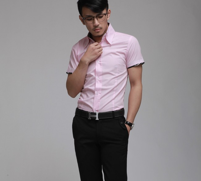 Mens Short Sleeve Shirt Slim Fit Is Shirt