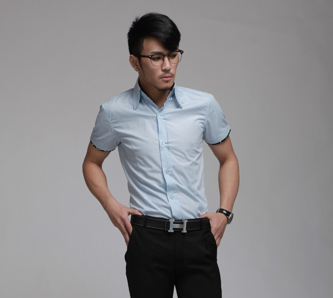 Mens Slim Fit Short Sleeve Shirts | Is Shirt