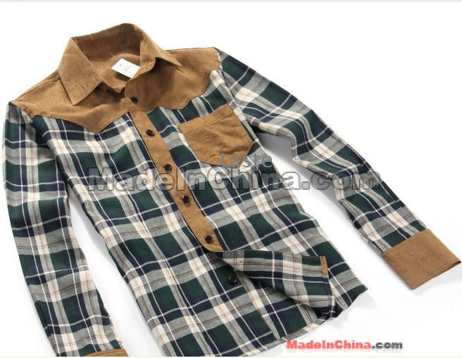 d5827bfa01d2 ... ΝΕΑ ρούχα ανδρικά πουκάμισα μόδας Casual Slim Ανδρών μακρύ μανίκι  Ανδρικά καρό φανελένια πουκάμισα - Χονδρικό ...