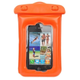 Waterproof Protective Case Pouch for  - Reddish Orange 30pcs/lot free shipping