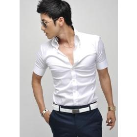 Hot Fashion NEW Mens New Arrival Hot Sale Fashion Short Sleeve Man's T-shirt White M/L/XL ZX12030307-1