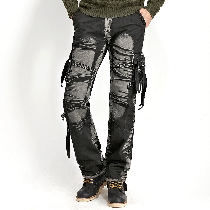 dark cargo pants - Pi Pants