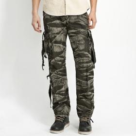 VANCL Ziff Washed Cargo Pants (Men) Dark Green SKU:189044