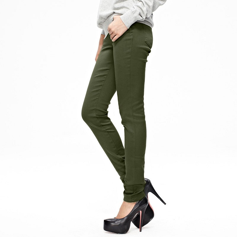 Excellent Womens Fashion Military Army Green Cargo Pockets Pants Leisure