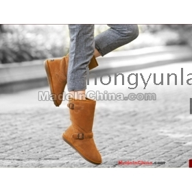 New 2013~Thermal   in China BGG snow boots rubber sole winter boots cowhide high-leg boots a01-58 ;;hongyunlai68