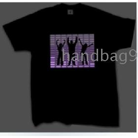 Michael  EL T-shirt,EL Sound Activated T-shirt,EL Equalizer T-shirt,EL T-Qualizer Shirt,EL Flash T-shirt R-1