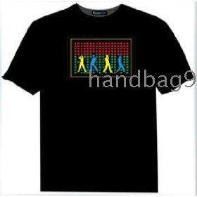 Michael  EL T-shirt,EL Sound Activated T-shirt,EL Equalizer T-shirt,EL T-Qualizer Shirt,EL Flash T-shirt R-2