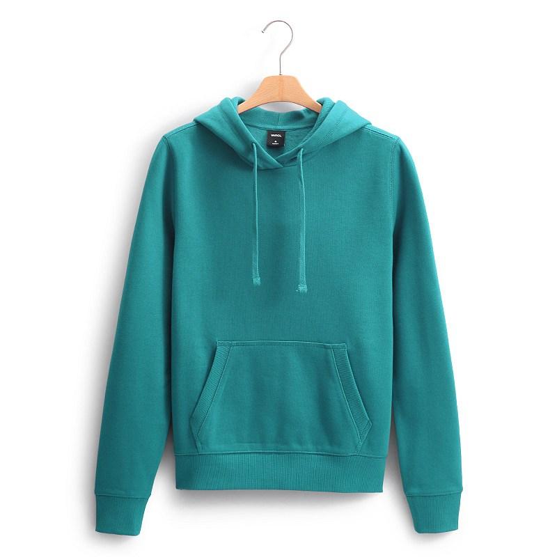 VANCL Halle Plain Pullover Hoodie Turquoise SKU - Vente en gros