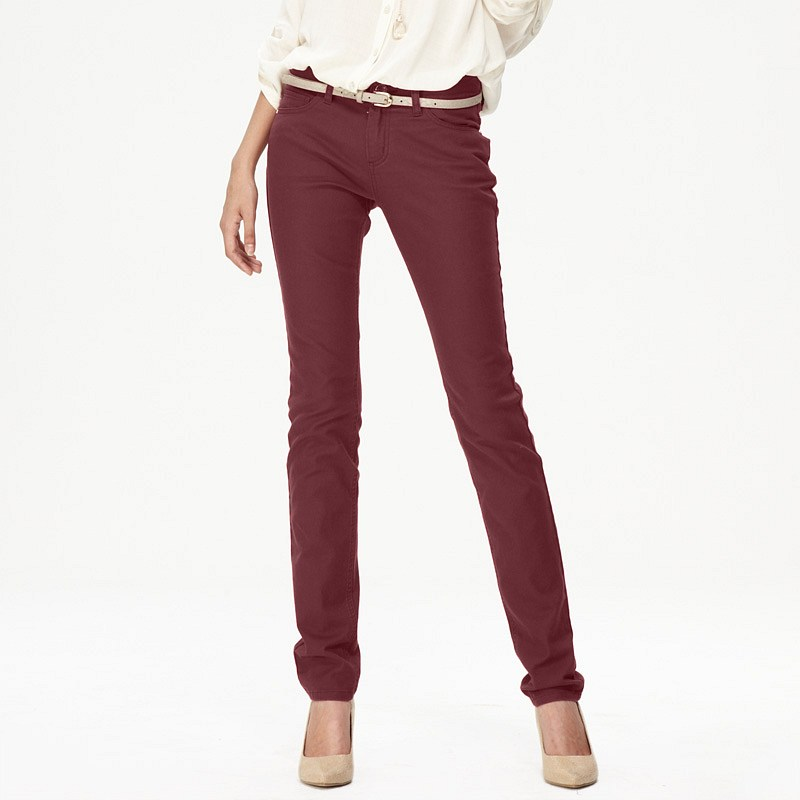 Unique Burgundy Womens Jeans Ye Jean
