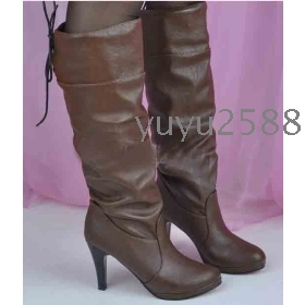 Buy brand new brown boots women s knee high boots shoes with box from