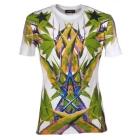 Free Shipping~2012 s/s paris fashion week Bird of Paradise Print mens' 100% cotton t shirts Black/white color SIZE:S/M/L/XL