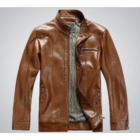 Free Shipping !~2013 new fashion men's leather jacket brand genuine sheepskin coat 3-color size:M~3XL