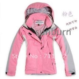 new Leopard grain women's Outdoor sport jackets ladies Waterproof breathable windproof 3 layer 2in1 climbing coat Brand sales 5~colors