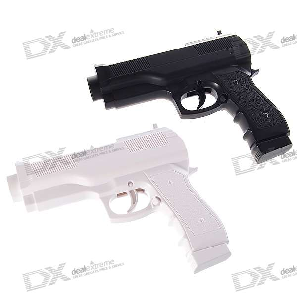 Black White Pistol Gun Controller for Wii Remote – Wholesale Black + White Pistol Gun Controller ...