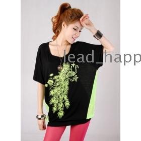Free shipping Womens plus size summer tops 2013 fashion loose blouse T-shirt  women t shirts