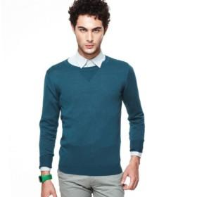 VANCL Modal Knit Sweater (Men) Lake Green SKU:638407