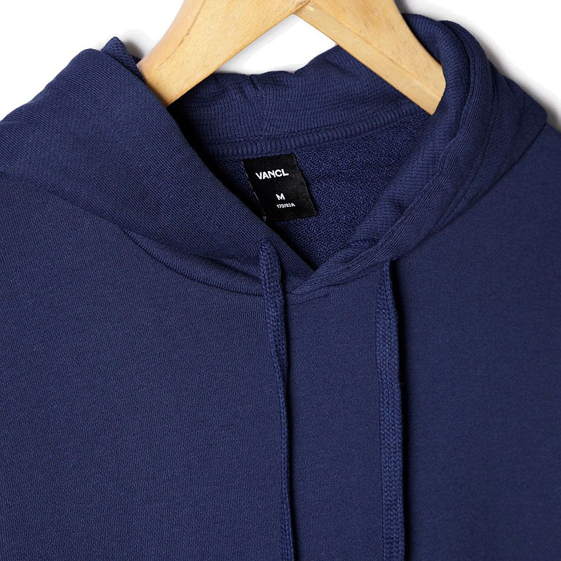 VANCL Paolo Plain Pullover Hoodie Men Navy Blue – Wholesale VANCL ...