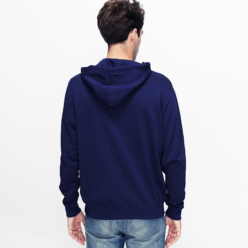 VANCL Paolo Plain Pullover Hoodie Men Navy Blue ...