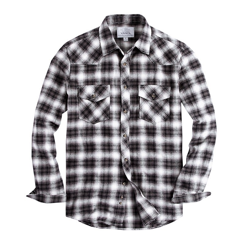 Mens Black And White Flannel Shirt | Is Shirt