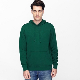 VANCL Paolo Plain Pullover Hoodie (Men) Dark Green SKU:180515