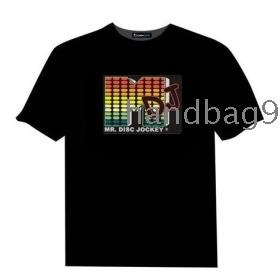 DJ EL T-shirt,EL Sound Activated T-shirt,EL Equalizer T-shirt,EL T-Qualizer Shirt,EL Flash T-shirt R-7