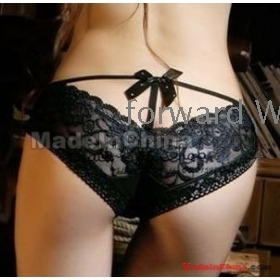 RFree Shipping factory wholesale VIVI  bud silk bowknot deep V uncover a  sexy underwear briefs 10pcs    02