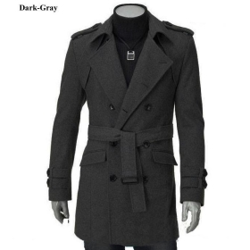 Free shipping Promotion New fashion Men wool coat Korean style winter outerwear warm jacket trench coat winter outdoor clothes  C