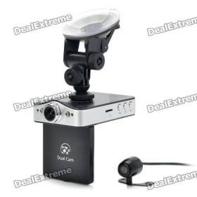 "DM-600 Separate 5.0MP Wide Angle Lens Car DVR Video Recorder w/ 2-LED Night Vision / HDMI (2.4"" LCD) SKU:130276"