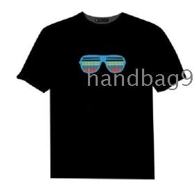 EL T-shirt,EL Sound Activated T-shirt,EL Equalizer T-shirt,EL T-Qualizer Shirt,EL Flash T-shirt R-9