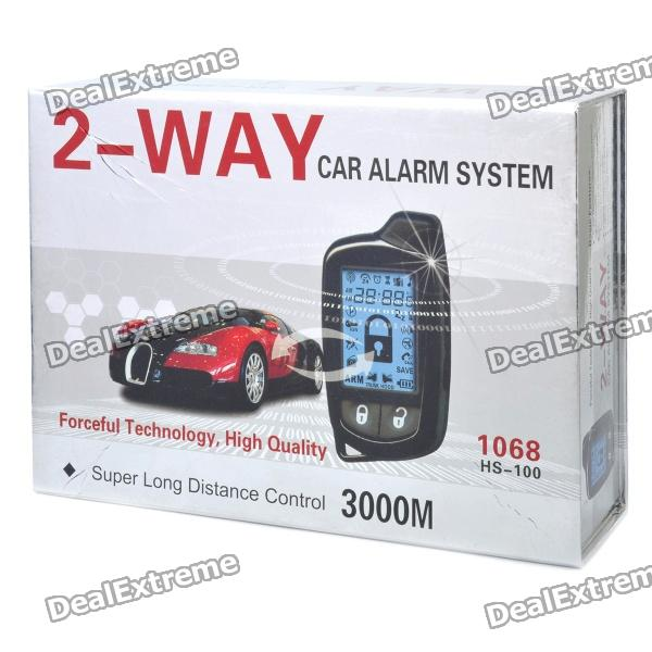 Package including we use neutral box to package hot selling spy two way car alarm with remote engine start, 2 way