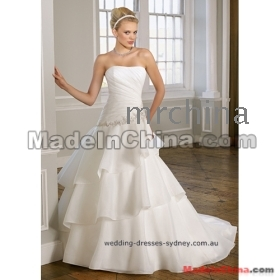 2012 Custom  A-Line Sweetheart  Fabric/Taffeta Applique Beading Chapel wedding gowns/