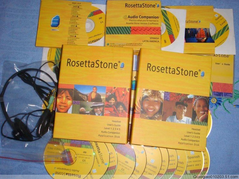 Rosetta stone v3 latin level 2 with audio companion english american