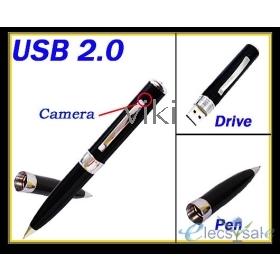 1PCS 4GB MP9 DVR Hidden Spy Pen Camcorder recorder Microphone Drive Pen free shipping