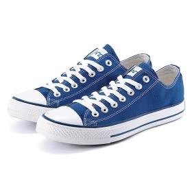 VANCL Classic Low Toe-Cap Canvas Shoes (Men) Blue SKU:178409