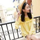 VANCL Radinka Long Sleeve Chiffon Blouse (Women) Yellow SKU:197115