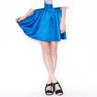 VANCL Lailah Flared Satin Skirt Sapphire SKU:192183