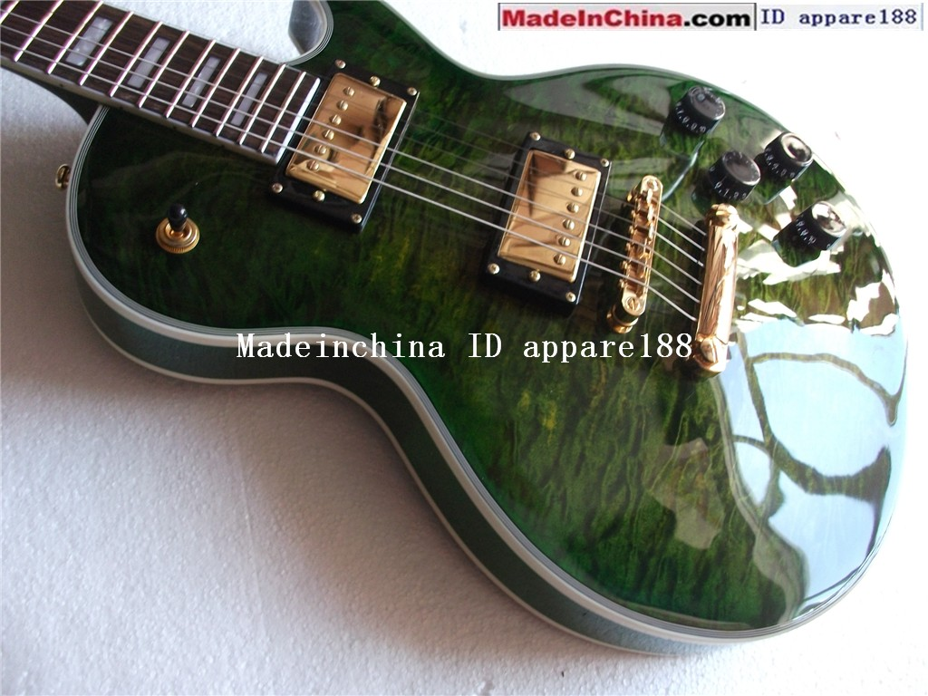 Green Electric Guitar Green Electric