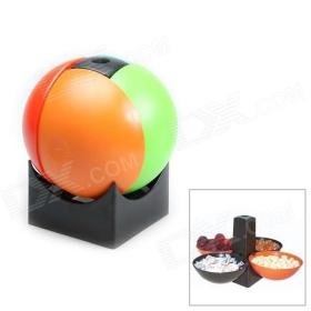 Cool Összecsukható Snack Capsule Ball Négy Bowl Snack Holder Piknik / Kemping - Többszínű SKU: 177465