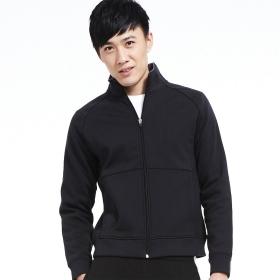 VANCL Stand Collar Cotton Sports Jacket (Men's) Black SKU:156581