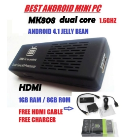 free shipping 808 Dual core RK3066 Android 4.1 1.6GHZ Smart Google TV box 1GB DDR3 8GB ROM