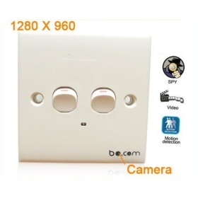 free shipping New Spy Wall Switch DVR Camera Detector Spy Hidden Camera Motion Detection