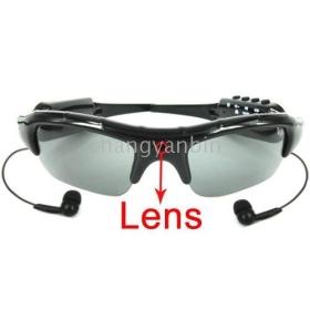 Wholesale --- Hot! New Easy 2 Button Control 2GB Sun Glasses Spy Camera + MP3, MP3 spy camera sunglasses